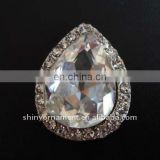 2013 fashion metal tear drop crystal rhinestone button