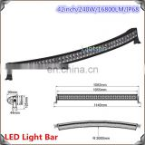 2015 44inch JK GMC ram 2500 3500 curved roof mounting led light bar
