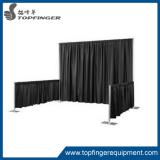 diy pipe and drape backdrop for wedding
