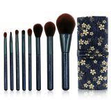 8pcs Makeup Brushes Set with Cloth Bag for Contour Eyeshadow Eyebrow Powder Foundation Brushes