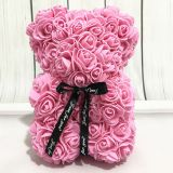 Factory Wholesale Valentine′s Day Gift PE Foam Rose Flower Teddy Bear
