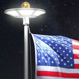 120pcs LEDs Solar Flagpole Lights High Lumen for illuminating Flags Solar Light