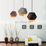 Best selling Nordic Style Hanging Lighting Polygon Unique Design pendant lamp for decorative commercial led pendant lighting