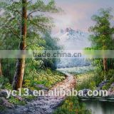 Guangzhou Manufacturer directly offer landscape oil painting,handmade home decor painting
