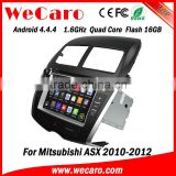 Wecaro Android 4.4.4 car dvd player touch screen car radio navigation system for mitsubishi asx WIFI 3G 2010 2011 2012