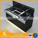 Guangzhou factory acrylic rotating lipstick display stand jewelry or watch glass display cabinet