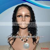 Hot Sales Indian Hair virgin indian remy jerry curl full lace wigs for white women