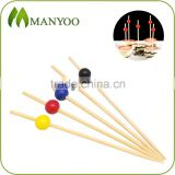 2016 hot sale beaded bamboo picks for food