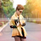 Luxury mink cape real fur cape for women