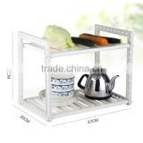 S/S+ABS 47(83)*30.5*40 Kitchen tools multifunctional storage rack/grocery rack/kitchen utensil drying rack