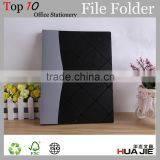 Customized cover printing plastic folder metal spring clip file folder portfolio