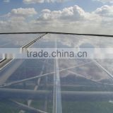 Clear ETFE coated film tensile fabric architecture roof and inflatable cushion construction building in Hannove for