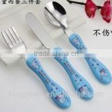 2015 Hot Sale stainless steel Kids cutlery set/metal spoon fork knife cutlery set/stainless steel cutlery for kids