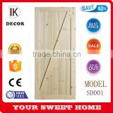 new design antique sliding solid pine wood door slab for us market                                                                                                         Supplier's Choice