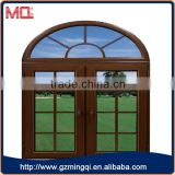 material of aluminium arched casement window with grills