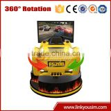 New product 9d cinema 2 player car racing games 4d simulator