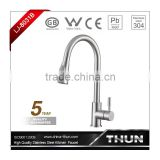 Single lever pull out stainless steel kitchen taps