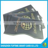 customized passport ID card RFID blocking card sleeve for anti thief in USA and Euro hot selling