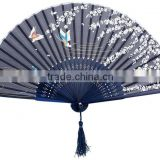 Japanese Folding Fan Butterfly & Flower Hand Held Silk Bamboo Fan Wedding Favor Gift