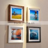 cheap decorative square wall art frame black/ white/ brown/ walnut mdf ps photo picture frame