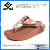 Popular 2014 wedge heel flip flop sandal