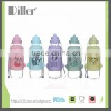 glass water bottle silicone sleeve for baby 145ML