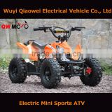 QWMOTO hot selling kids mini bike electric moto ATV quad electric mini bike ATV
