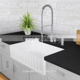 33 inch Rectangular Solid core construction kitchen sinks with Custom Stainless Steel strainer
