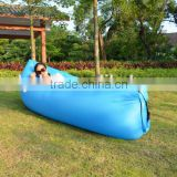 Fast Inflatable Camping Sofa banana Sleeping Bag Hangout Nylon lazy laybag Air Bed chair Couch Lounger Sofa                                                                         Quality Choice