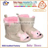 Cheap Price Lovely Mouse Pattern Skidproof Warm Nice Baby Girl Boots