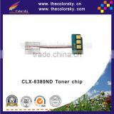 (TY-S8380) reset laser printer toner chip for Samsung CLX-8380ND CLX-8380 CLX8380ND CLX8380 CLX 8380ND 8380 kcmy 20/15k free dhl