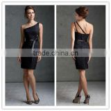 2013 Lastest Designer Sexy Black Lace One-Shoulder Party Dress Bridesmaid Dress MLB-221