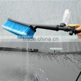 Car Wash Brush With Retractable Long Handle Water Flow Switch Foam Bottle Car Cleaning Soft-bristle