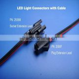 Power Jack Plug 2 Pin Wire & Socket Connector extension Lead for led downlights