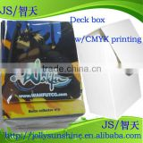 deck box France Wakfu with CMYK printing logo, pp box Deckbox for game card, Dongguan supplier