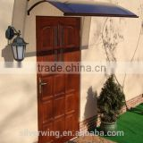 European New model Aluminum Metal Polycarbonate/PC front door Canopy roof cover with Hollow Board Brown Color
