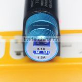full speed prtable usb fast car usb charger 5v 2.4a 2.1a 1a 0.5 charge 2 device with rapid speed