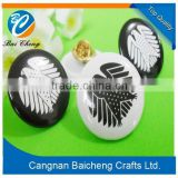 China wholesale large various styles custom metal tin button badges tinplate badge with cheap price and top quality