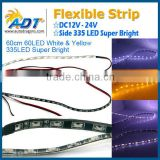 Auto parts Side Glow White/Yellow Switchback LED Strip Lights