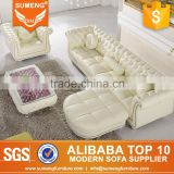 SUMENG 2015 newest vintage leather sofa furniture with footstool                                                                         Quality Choice