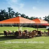 outdoor parasol luxury semi-automatic square umbrella large size 5*5m