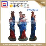 hot sale religious virgin mary figurines and resin virgin mary monther with baby statue for church decoration