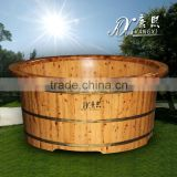 Wooden hot tub outdoor spa tub wooden pool with bath-set