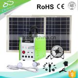 20w solar fan & lighting system with FM radio&MP3 player