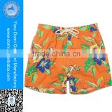 Cutom bottoms out printed 100% polyester swim shorts for men