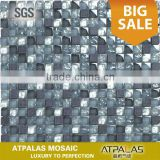 cheap mosaic tile sheets black glass and stone wall tile