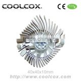 CoolCox Graphic card cooler fan,VGA cooler,VC-AL4005,VGA heatsink with fan,VGA cooling fan,for nvidia Geforce,hole distance 80mm