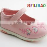 2016 new fashion brand no name embroidered safety baby shoe made in China