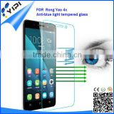 Premium transparency Ultrathin Anti-static Anti blue light 9H tempered glass screen protector for rong yao 4x