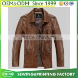 Wholesale men's coat artificial leather jacket cool style men's zipper PU leather jacket